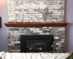 painted brick fireplace designs