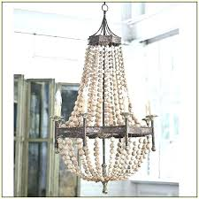 wood bead chandelier scalloped small world market