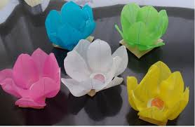 Paper Lotus Flower Wishing Sky Paper Wedding Festival Decoration Paper Lantern Lotus Flower Floating Lanten Bvg56 1st Birthday Supplies 2nd Birthday Party From