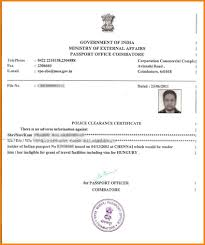 Certificate Police Clearancecate Application Form Pcc Sample1 Agile