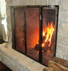 custom made fireplace screens with doors