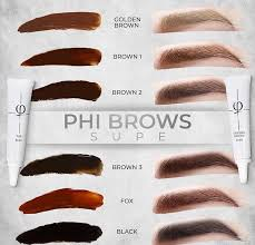 Phibrows Color Chart Phibrows Pigments Eye Designer
