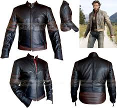 details about x men wolverine style mens blk brn fashion high qualityene leather jacket