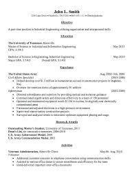 Junior Industrial Engineer Resume Gallery Of Industrial Engineer