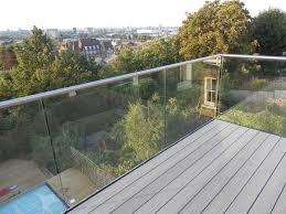 frameless glass railing system marvelous balconies deck home ideas 39
