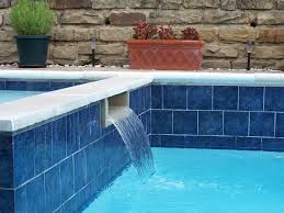 6x6 themes blue glossy glazed porcelain tile for pool wall and backsplash