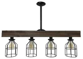 farmhouse lighting triple wood beam vintage decor chandelier light industrial kitchen island lighting by light go