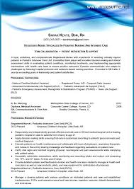 Resume Examples For Rn New Pediatric Rn Resume Graduate Nurse Resume Template Pediatric Nursing