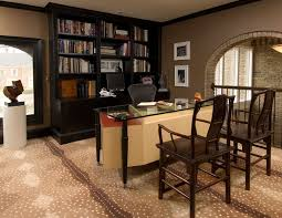 home office decor ideas design. simple ideas stylish home office ideas furnished with natural wood furniture  dark  bookcase glass desk wooden chair for decor design e