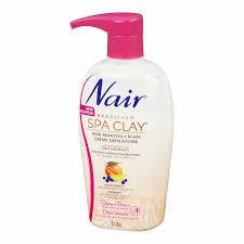 nair spa clay shower hair removal cream 312g