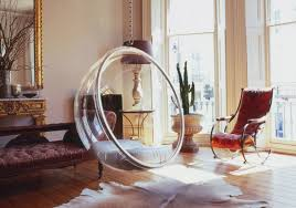 image of bubble hanging chair for bedroom