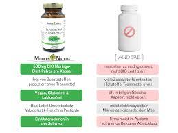Bio Moringa 500mg Jahresvorrat 12x 90 Kapseln Vegan Glutenfrei