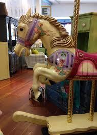 purple rocking horse bust