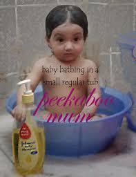 baby bathing india in tub