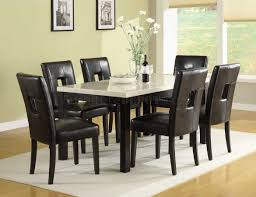 Marble Top Kitchen Table Set Archstone 3270 60 Dining Table W Faux Marble Top Options
