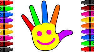 Rainbow Hand Coloring Pages L Finger Family L How To Draw And