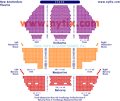 Amsterdam Theatre Nyc Seating Chart Studious Seating Chart For Broadway Theatre New York