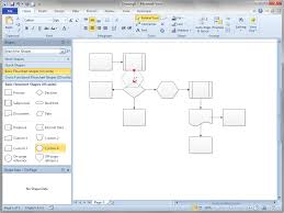 How To Insert A Flow Chart Into Word Shift Flowchart Shapes Automatically Visio Guy
