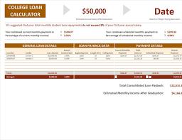 Multiple Student Loan Calculator College Loan Calculator