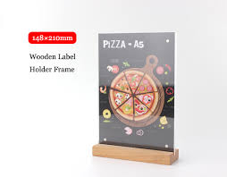 Wooden Menu Display Stands Best Aliexpress Buy A32 Wooden Base Price Banner Display Stand Table
