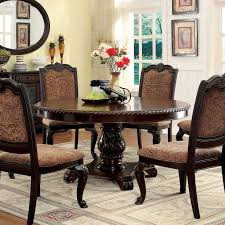furniture of america oskarre brown cherry round dining table by ideas with galleryl home design