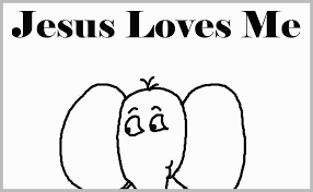 Jesus Loves Me Coloring Page Good Religious Easter Coloring Pages