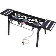bayou classic black triple outdoor stove with low pressure gas burners