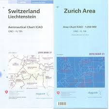 Set Icao Chart Switzerland And Area Chart Zurich And Geneva