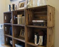 Wooden Crates for Building Shelves - Stackable Wooden Crate for Building  Display Shelves - Wood Crate