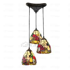 tiffany style three light multi pendant lights loading zoom