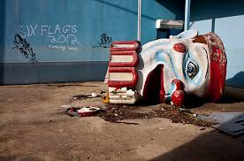 the surreal remains of six flags new orleans photo essays photo essay acircmiddot jazzland six flags new orleans new orleans flooded by hurricane katrina in