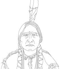 free native american coloring pages skull par