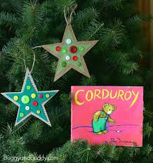Button Star Christmas Ornament Craft for Kids: Inspired by the children's  book, Corduroy!