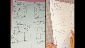 Princess Cut Blouse 28 46 Size All Measurement Diagram Princess Cut Blouse Drafting Measurement