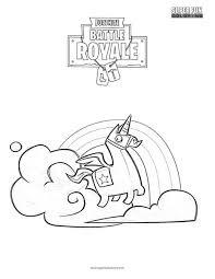 Brite Llama Fortnite Coloring Page Super Fun Weareeachother Coloring