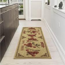ottomanson siesta collection kitchen fruits design non slip with regard to kitchen runner rug