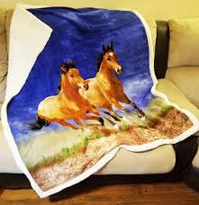 Horse Design Throw Blanket Blankets Throws Chicks Discount Saddlery
