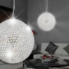details about large crystal ball sphere chandelier light fitting pendant
