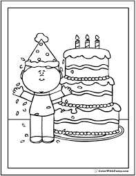 Small Picture 2 Birthday Cake Coloring PageCakePrintable Coloring Pages Free