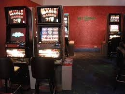 Here a view into the slot machine casino which is separated from the betting office.