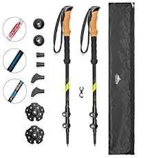 Cascade Mountain Tech <b>Carbon</b> Fiber Adjustable Trekking <b>Poles</b>