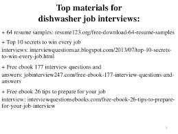 Dishwasher Resume Examples Dishwasher Resume Sample Pdf Ebook Free Download