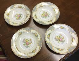 Antique Noritake China Patterns With Gold Edging Impressive Set Of 48 Noritake China 'Bantry' Soup Bowls Floral Pattern Gold