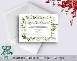 printable christmas invitations christmas invitation etsy