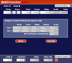 Asian Handicap Betting Calculator Examples