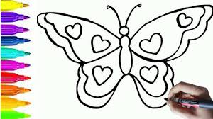 Art For Kids How To Draw And Color Animals For Kids Butterfly Coloring Pages