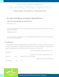 Friend Contract For Loaning Money Sample To Family Loan