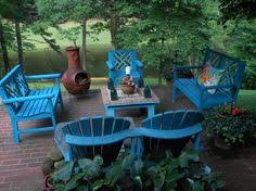 Colored wood patio furniture Wrought Iron Drab To Fab My 30 Year Collection Of Wooden Patio Furniture Really Needed Pinterest 97 Best Wooden Patio Furniture Images Woodworking Carpentry Gardens