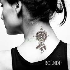 Vodotěsný Dočasné Tetování Nálepka Mandala Lotosový Květ Flash