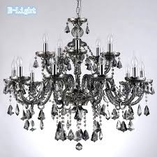 glass chandelier crystals 4 smoke top 5 arms 1 4 e chandelier glass crystals